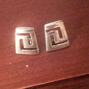 sterling earrings w/ traditional design